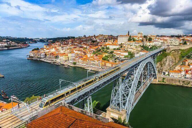 view from serra pilar porto