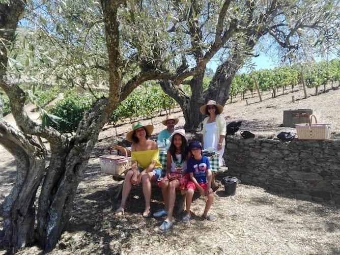 piquenique quinta roeda ferias em familia no douro