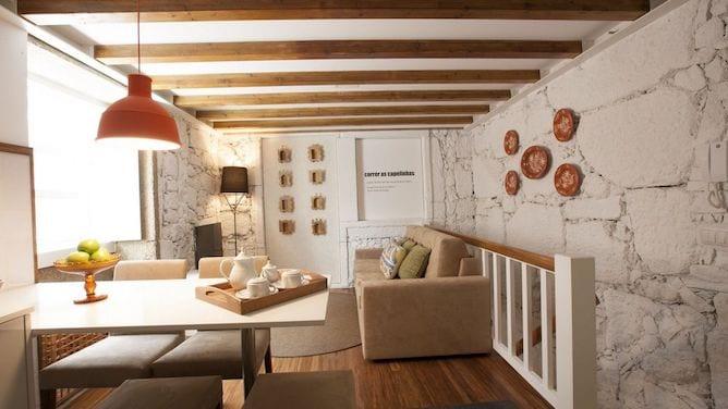 cosy living room rua tras apartaments porto