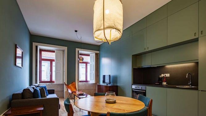 living room aparthotel oporto alves veiga