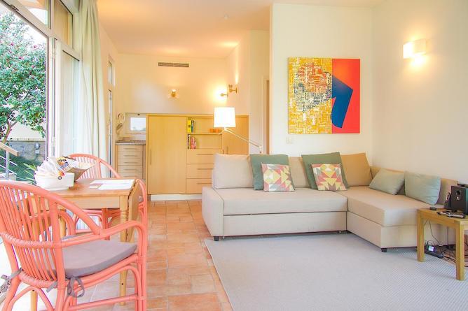 living room porto garden pool house