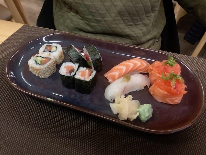 pecas sushi menu almoco restaurante gion porto