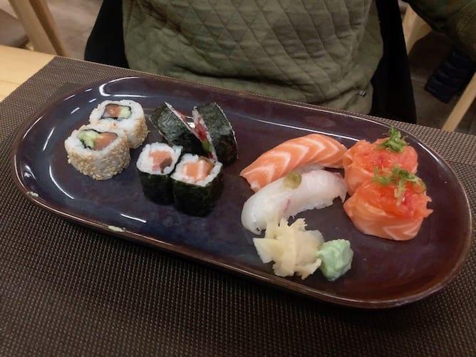 lunch sushi platter gion restaurant porto