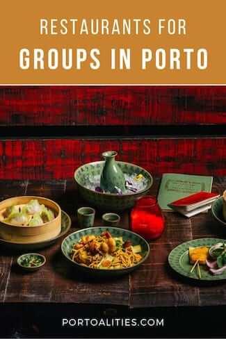 restaurants for groups in porto