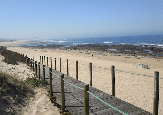 madalena beach porto wooden walkways