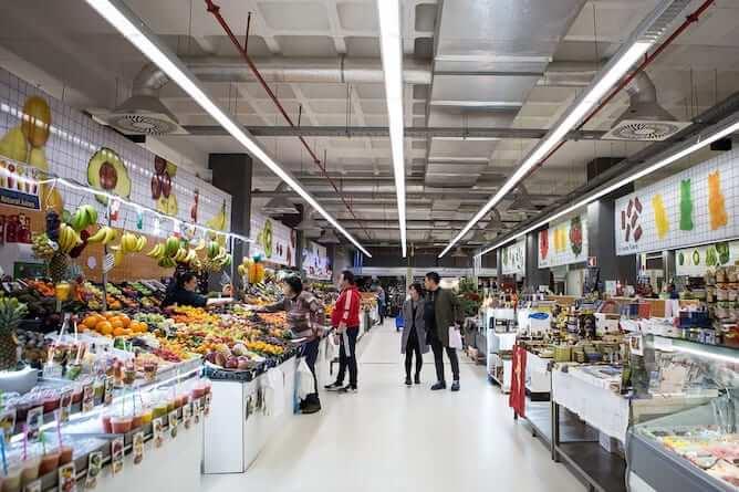 mercado temporario bolhao bancas frutas