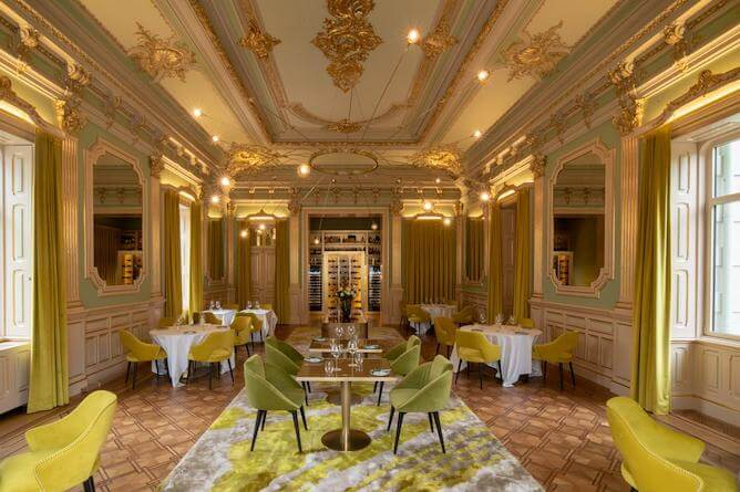 sala jantar vila foz hoteis romanticos porto