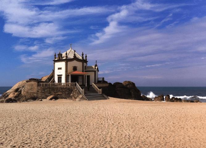 senhor pedra famous beach porto chapel sand