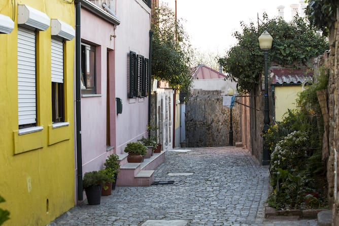 typical portuguese cobblestone street what to do in foz
