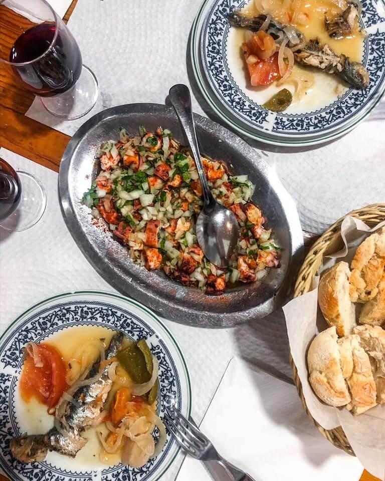 grilled sardines octopus salad escondidinho barredo tasca porto