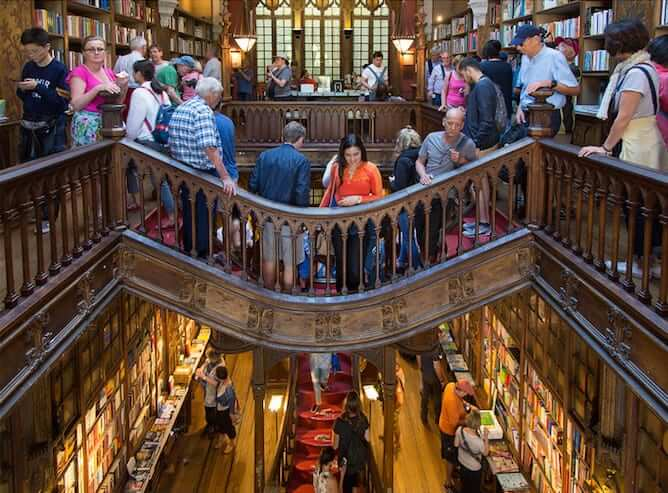 lello bookstore packed with tourist not to do in porto