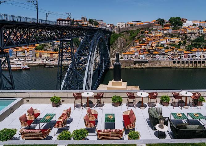 terrace swimming pool vincci luxury hotel cais gaia porto