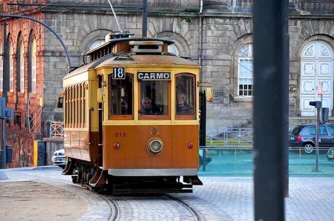 tram ride porto