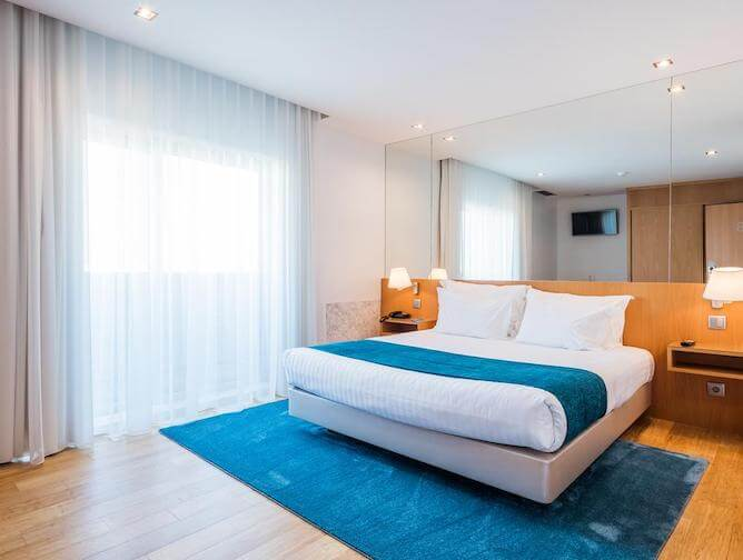 double bedroom oporto airport and business hotel near porto airport
