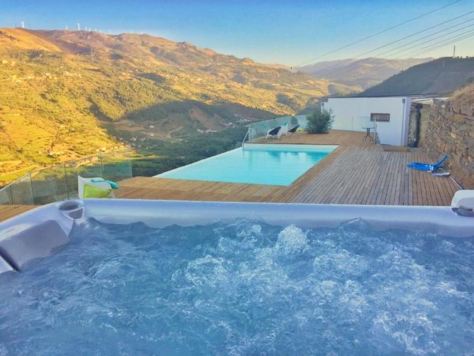 infinity pool douro valley outdoors hot tub