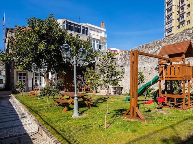 playgroung garden pedra iberica hotel porto