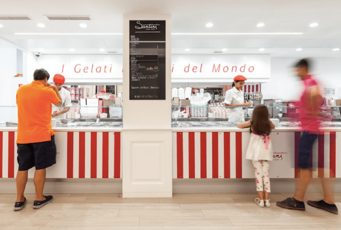 santini ice cream shop porto