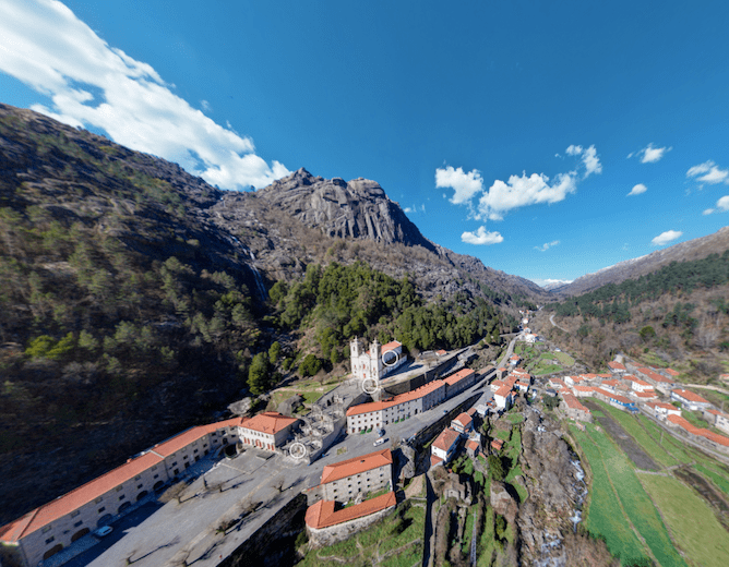 view of sanctuary peneda geres portugal