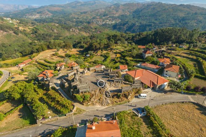 vista aerea aldeia soajo