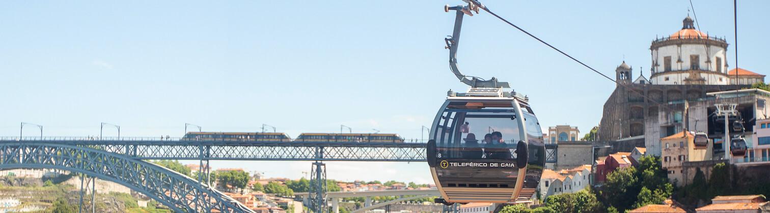 cable car douro river porto