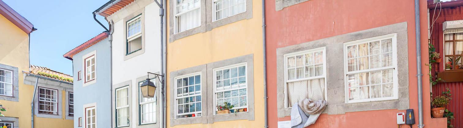 colorful medieval streets porto